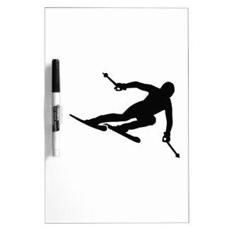Ski racing dry erase board