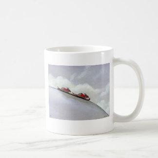 Ski racing rats fun uique art skiing rat painting coffee mug