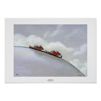 Ski racing rats fun uique art skiing rat painting print