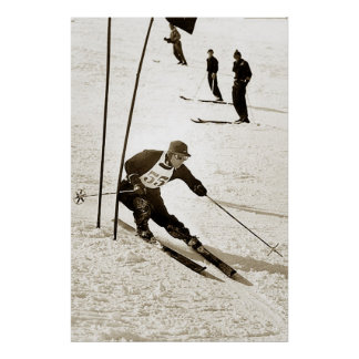 Ski Racing Slalom Skiing Sports downhill Skiing Poster