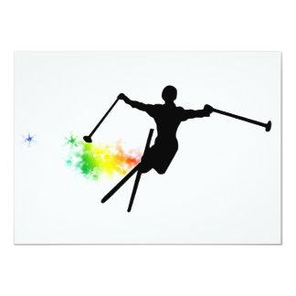 ski : rainbow powder trail card