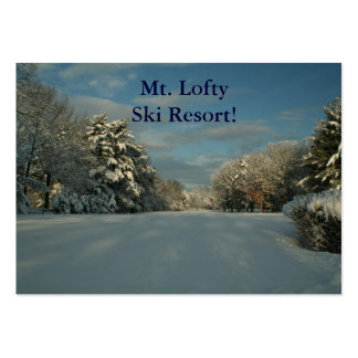 Ski Resort, Business Card!   Add your name here! Large Business Card