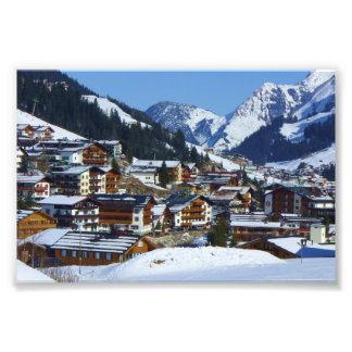 Ski resort Lech in Austria - Photo Print