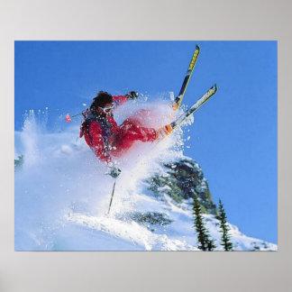 Ski resort, Romania, Piana Brasov, tricks Poster