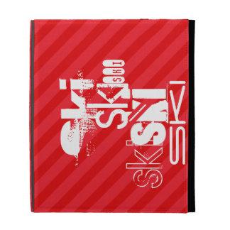 Ski; Scarlet Red Stripes iPad Folio Covers