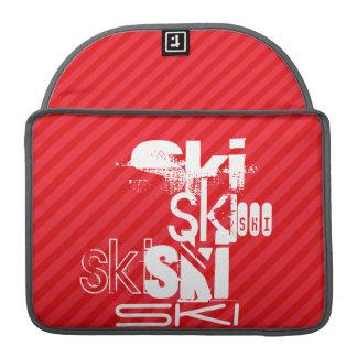 Ski; Scarlet Red Stripes Sleeve For MacBook Pro