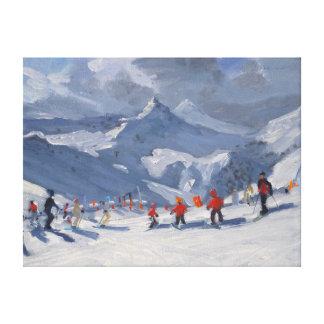 Ski School Tignes 2009 Canvas Print
