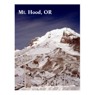 Ski season postcard