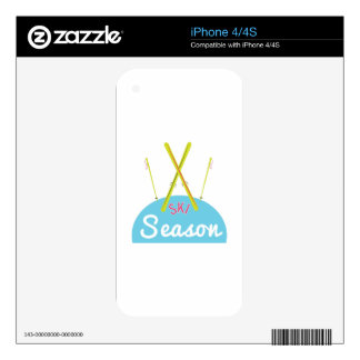 SKI Season Decal For iPhone 4