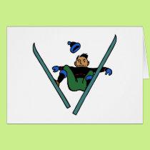Ski ski drive skiing accident accident card