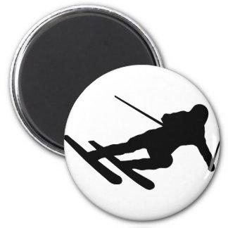 ski skiing downhill skier refrigerator magnets