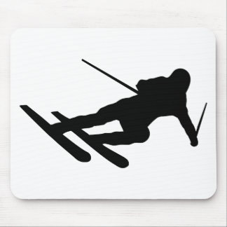 ski skiing downhill skier mouse pad