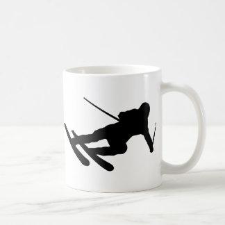 ski skiing downhill skier mug
