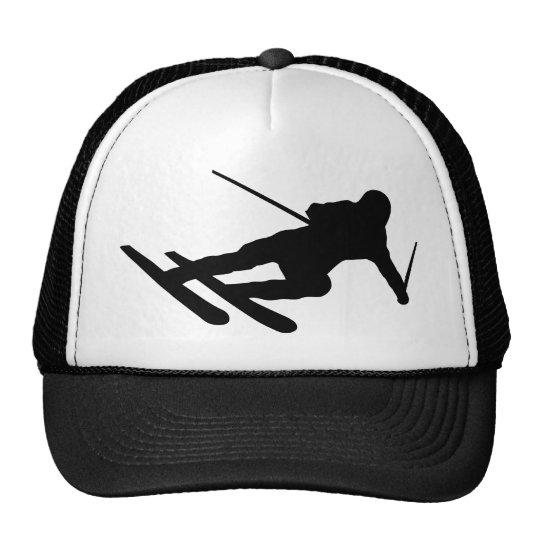 ski skiing downhill skier trucker hat