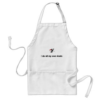 Ski Slalom Hero Adult Apron