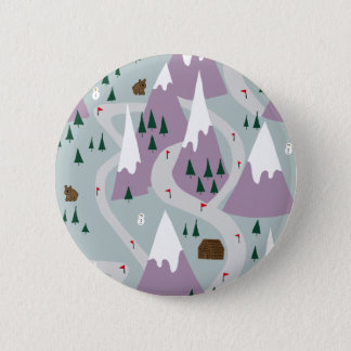 Ski slopes pinback button