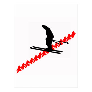 ski smoot sliding postcard