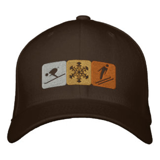 Ski snow lovers gear for skiing fanatics embroidered baseball hat