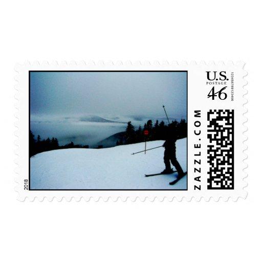 Ski Sunday River Postage Stamp