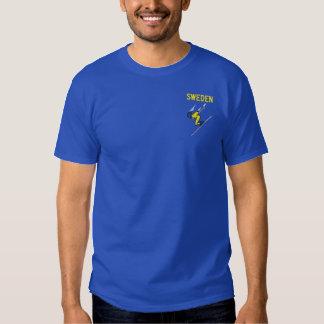 Ski Sweden Custom Swedish Sports Embroidered T-Shirt