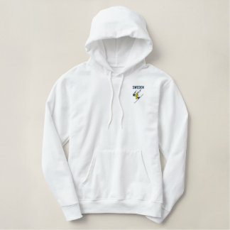 Ski Sweden  Customizable Country Embroidered Hoodie