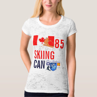 Ski Team Canada Flag Crew No. 85 Winter Sports T-Shirt