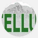 Ski Teluride Classic Round Sticker