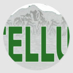 Ski Teluride Round Stickers