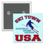 Ski Town USA, Steamboat Springs, Colorado Buttons