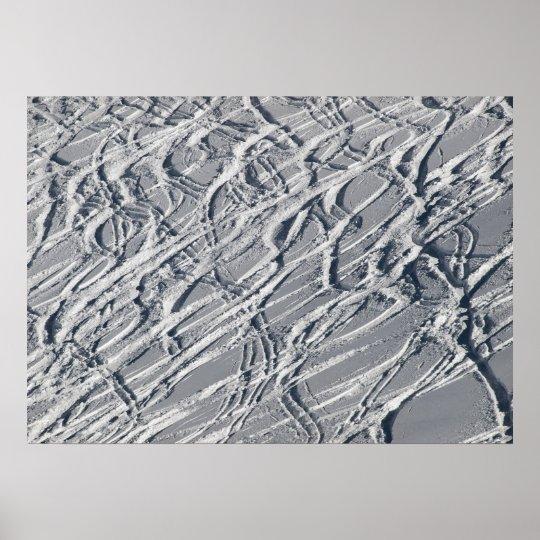 Ski traces poster