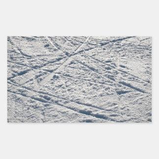 Ski traces rectangular sticker