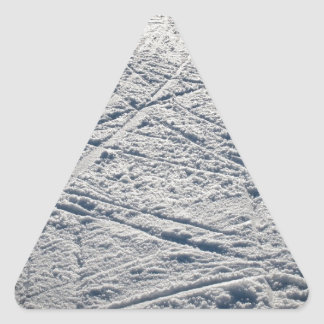 Ski traces triangle sticker