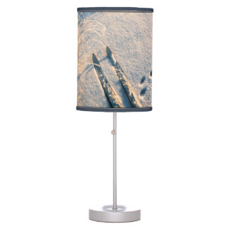 Ski track table lamp