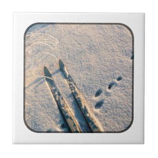 Ski track ceramic tiles