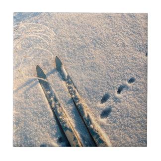 Ski track tile