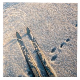 Ski track tiles