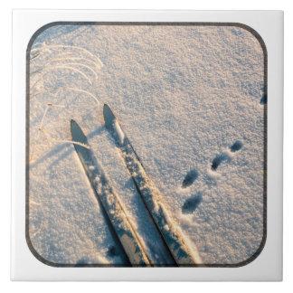 Ski track ceramic tile