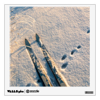 Ski track wall decal