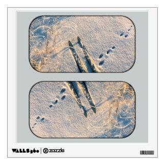 Ski track wall sticker