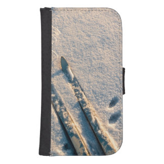 Ski track wallet phone case for samsung galaxy s4