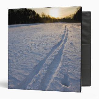 Ski tracks at the Willowbrook Farm Preserve in Binder