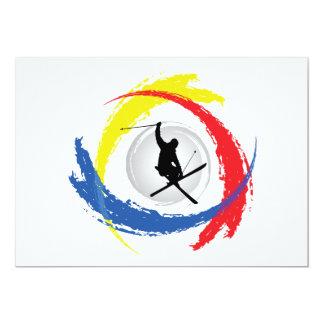Ski Tricolor Emblem Card