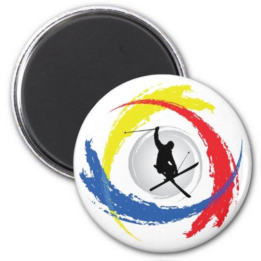 Ski Tricolor Emblem Magnet