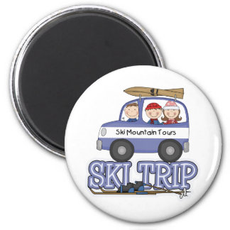 Ski Trip Refrigerator Magnets