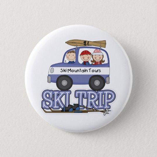 Ski Trip Pinback Button