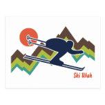 Ski Utah Post Card