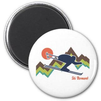 Ski Vermont 2 Inch Round Magnet