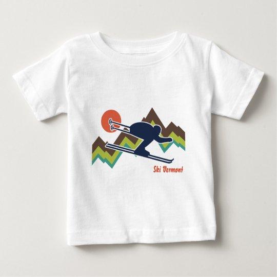 Ski Vermont Baby T-Shirt