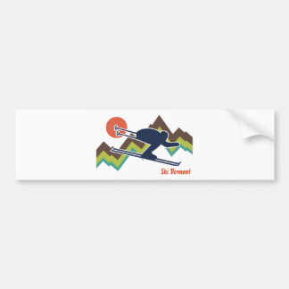 Ski Vermont Car Bumper Sticker