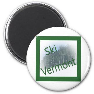 Ski Vermont green Magnet